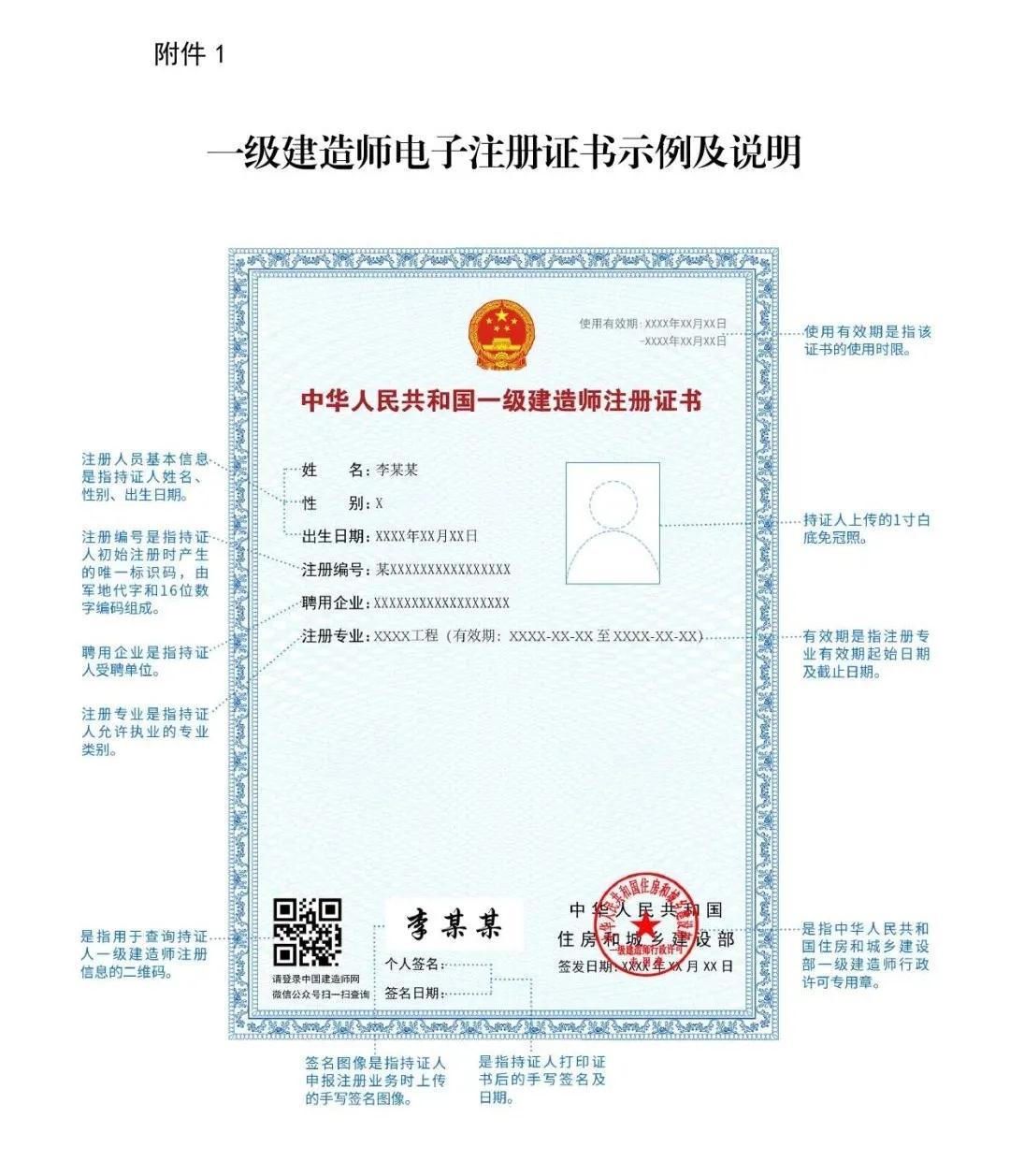 全国启用一级建造师电子注册证书!纸质证书将作废!